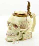 Mug Porcelain with 100% Bronze Mounted Porcelain Musterschutz Skull  *Fr... - $189.00