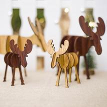 Christmas Wooden Deer Pendants Ornaments Diy Ornaments Xmas Tree Ornamen... - $0.80+