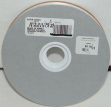 McGinley Satin 100666 White Acetate Ribbon 100 yd  Pkg 1 Spool image 3