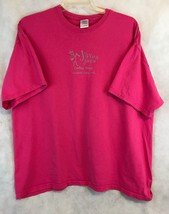 Gildan Jiving Java Granite Falls NC Pink Short Sleeve Tee Shirt Size 2XL - $11.30