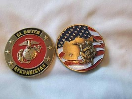 "MARINE CORPS CL CAMP DWYER AFGHANISTAN 1.75"" CHALLENGE COIN  - $17.09"