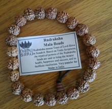 Prayer Beads Rudraksha Seed Wrist Mala Prayer Bracelet - 8.5 to 9mm #41038