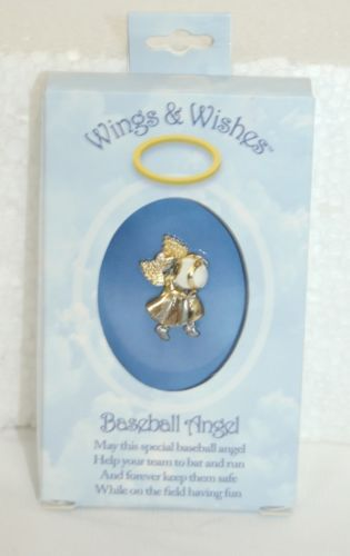 DM Merchandising Wings Wishes Baseball Angel Gold Silver Colored White Ball
