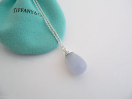 NEW Tiffany & Co Picasso 20 Carat Blue Chalcedony Necklace, Pouch - $698.39
