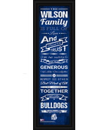 "Personalized Drake ""Bulldogs"" 24 x 8 ""Family Cheer"" Framed Print - $39.95"