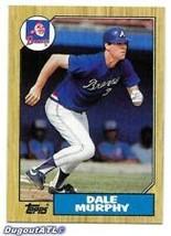 #490 Dale Murphy 1987 Topps Baseball - $1.75
