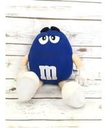 "M&M Collectible Medium Plush Blue Stuffed Animal 15"" Mars Candy  - $20.00"