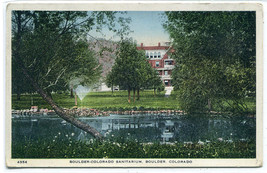 Sanitarium Boulder Colorado 1920c postcard - $6.44