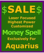 sfg Sale Billionaire Wealth Spell Custom Ritual Aquarius Betweenallworlds  - $129.50