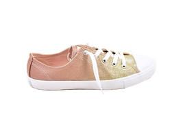 Converse Women 559870C CTAS DAINTY OX Sneakers Gold Ombre AU 7 - $61.36