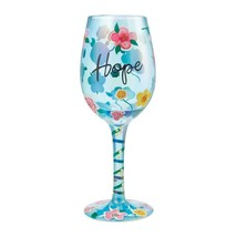"""Hope """"Designs by Lolita"""" Wine Glass 15 o.z. 9""""  Gift Boxed"""
