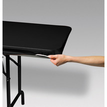 Stay Put Plastic Tablecloth Black 29 x 72 Banquet StayPut Wind Proof - $7.59