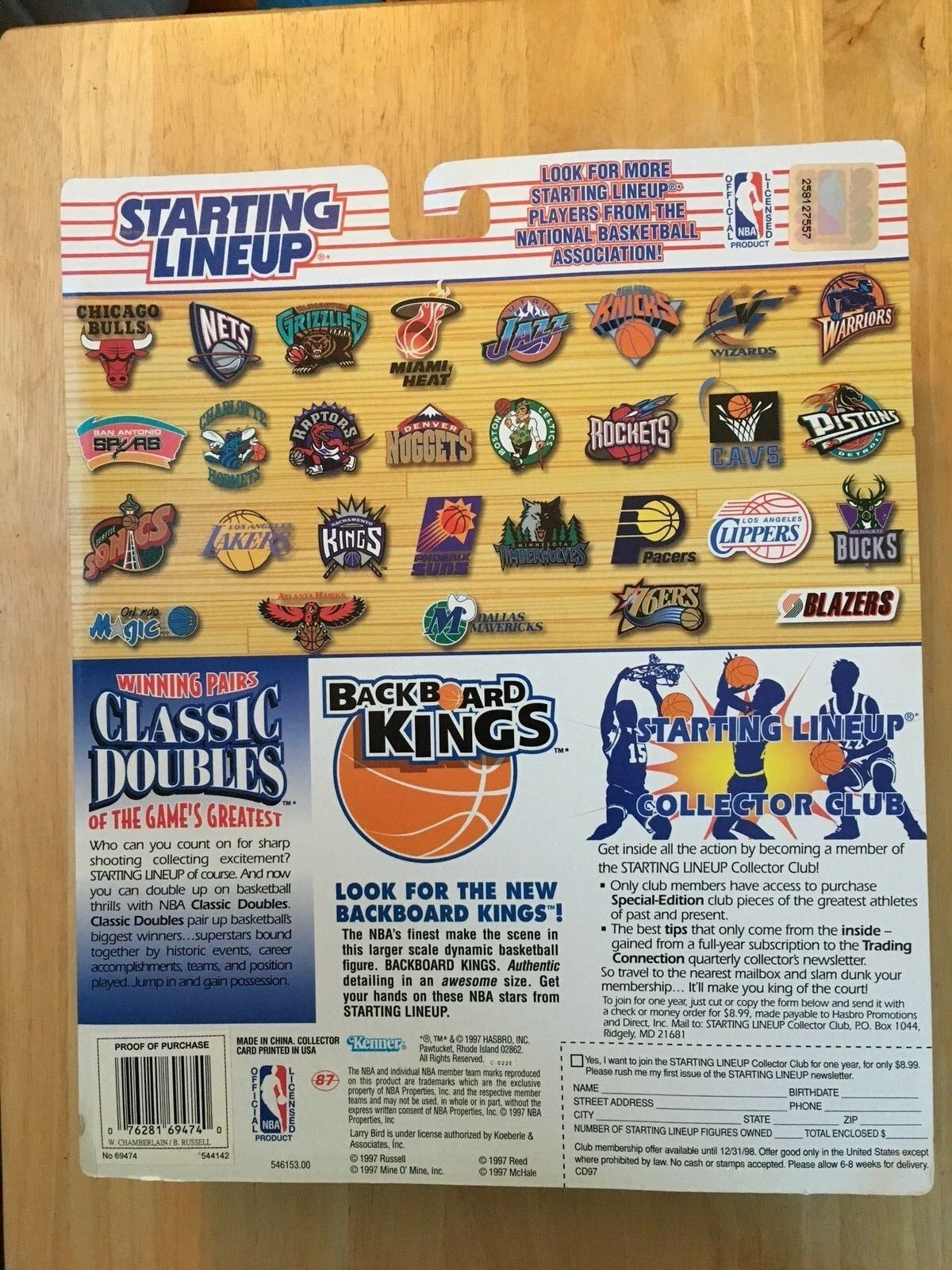 Starting Lineup 1997 Bill Russell Wilt Chamberlin Celtics NBA Classic Doubles