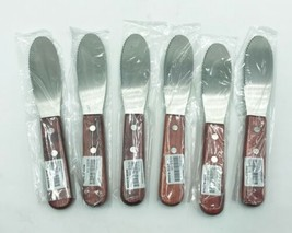 """lot of 6x Value Series WSS-06 Wooden Handle Sandwich Spreader, 3-5/8""""Wx1... - $14.99"""