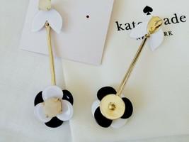 Kate Spade New York Black Floral Drop Earring - $28.70