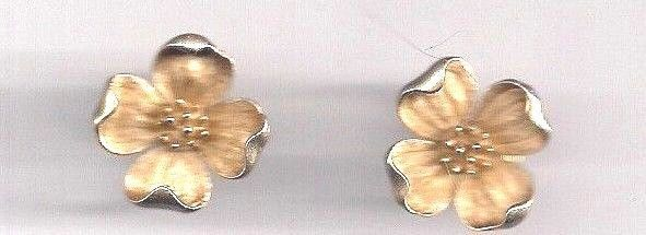 "Trifari Earrings Gold Plate Clip on  3/4""  Estate"