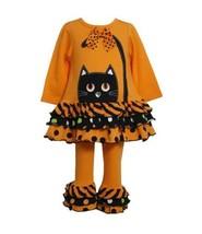 Bonnie Baby Baby Girls' Cat Applique Legging Set, Orange, 24 Months - $35.55