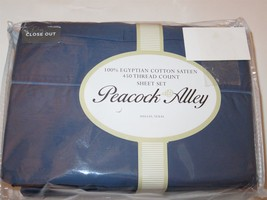 Peacock Alley 4P King Sheet set 450tc Egyptian Cotton Blue - $218.45