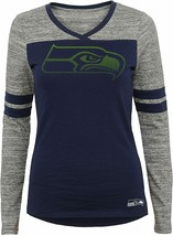 Outerstuff NFL Junior Girls  Long Sleeve Football Tee, Seattle Seahawks ... - $18.65