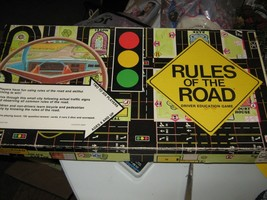 "Vintage 1977 Cadaco ""Rules of the Road"" Board Game - Missing Two Cars image 1"
