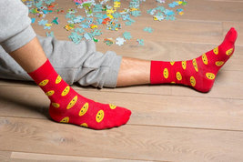 Smile Red Socks - $8.40