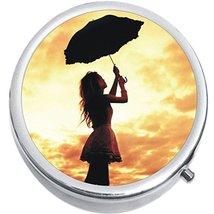 Umbrella Girl Medicine Vitamin Compact Pill Box - $9.78