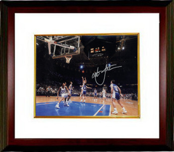 Christian Laettner signed Duke Blue Devils Horizontal Metallic 8x10 Photo Custom