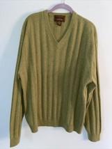 Mens XXL Olive Green Tasso Elba Casmere Sweater READ DESCRIPTION - $29.70