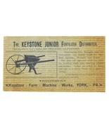 Keystone Farm Machine Works York PA  Jr Fertilizer Distributer 1890s Agr... - $24.99