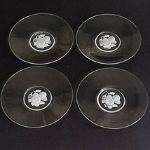 4 (Four) Imperial GLASS-OHIO Intaglio Fruit Bread & Butter Plates Discontinued - $24.99