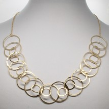 Choker Necklace Silver 925 Foil Gold With Circles By Maria Ielpo Made IN... - $199.22