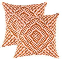 TreeWool, (2 Pack) Throw Pillow Covers Kaleidoscope Accent in Cotton Can... - $22.99