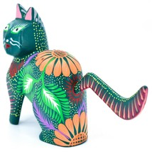 Handmade Alebrijes Oaxacan Copal Wood Carving Painted Cat Kitten Figurine image 2