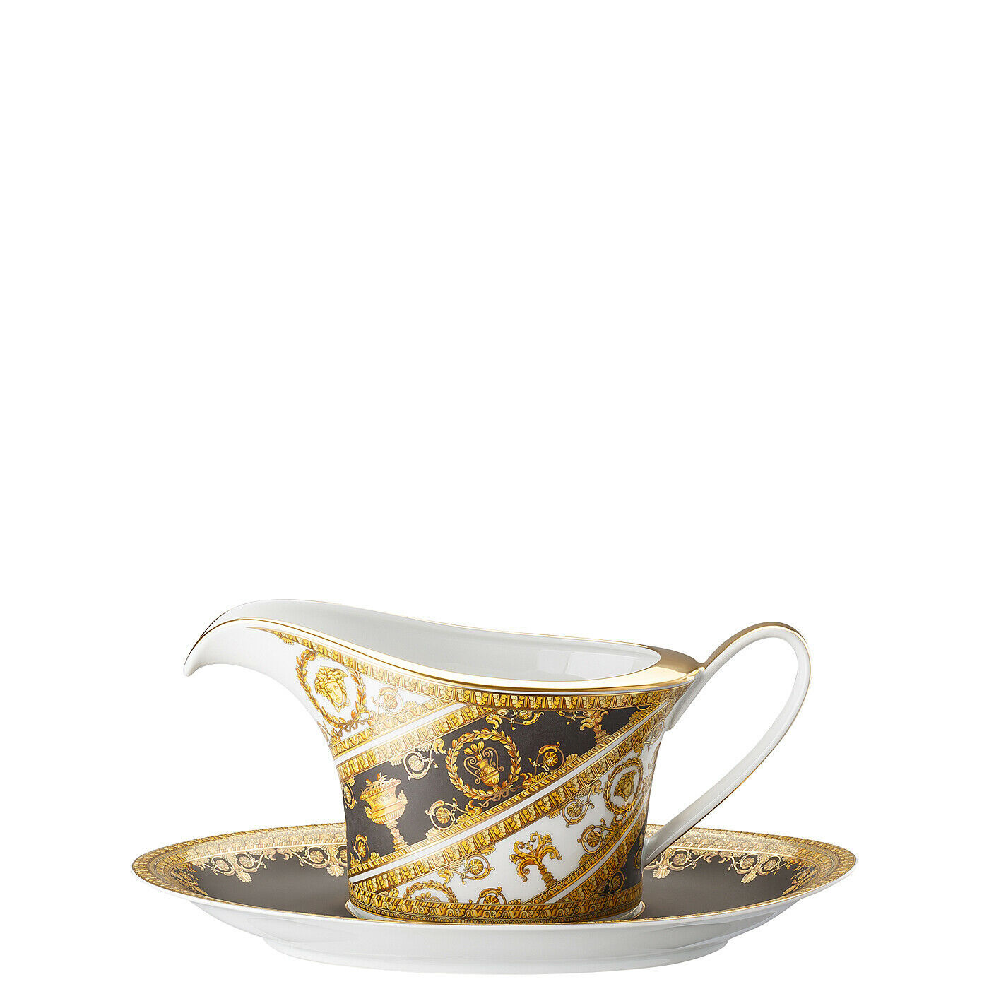 Primary image for Versace I Love Baroque Sauce-Boat 2 pcs. Porcelain Made in Italy