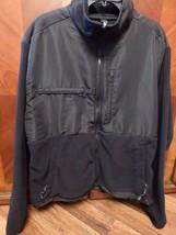Works Ron Chereskin Mens Black XXL Black Fleece Jacket Zip Up - $19.45
