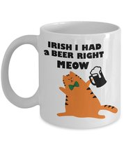 Funny Green Irland Gift Coffee Cup for Paddy's Day Irish St Patrick Shamrock Cat - $14.95
