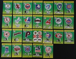 1990 Fleer Action Series Team Stickers Cards Set of 26 Baseball Cards  - $6.00