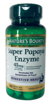 Nature's Bounty Super Papaya Enzyme 45 mg 90 chewable tablets 11/2022 FRESH! - $9.45