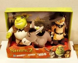 2004 Shrek2- 3 Set of Mini Plush Figures (Shrek & Pals) - $29.69