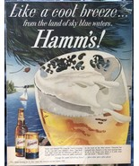 Hamm's Print Ad Like A Cool Breeze 13 1/2 X 10 1/4 1963 - $11.01