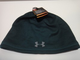 Under Armour Mens Coldgear Strom Reactor Beanie Hat Color Green Gray - $27.07