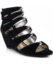 Steven by Steven Madden Gabbey Women's Gladiator Wedge Sandal (Black) - $33.97