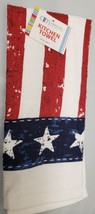 "1 Printed Kitchen Towel (15"" X 25"") American Flag With White Spots, Am - $7.91"
