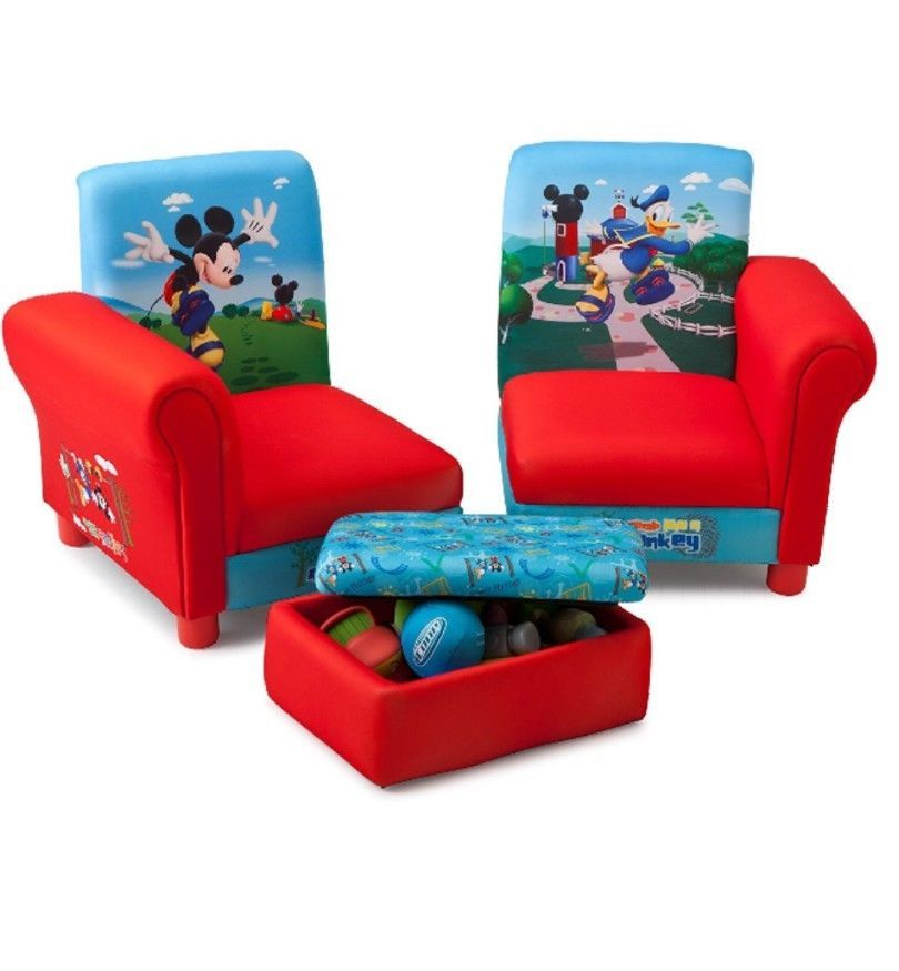 Children Mickey Mouse Sofa Sectional Set And 15 Similar Items