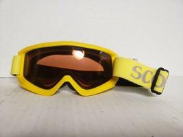 A9=Women Scott vintage Yellow SKI or snowboard googles sun glasses orang... - $12.62