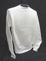 LEE HEAVY WEIGHT ~ Crewneck WHITE Long Sleeve Sweatshirt ~ Size ADULT XL... - $13.96