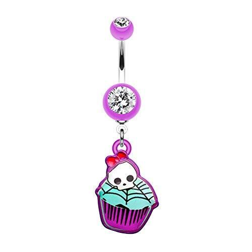 Primary image for Emo Skull Cupcake WildKlass Belly Button Ring