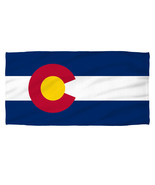 New Authentic Colorado Flag Sublimation Beach Towel States - $32.66