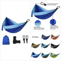 DONGOLO Double Single Camping Hammock Lightweight Portable Parachute Nyl... - $41.86