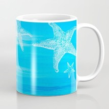 Coffee Mug Cup 11oz or 15oz Made in USA Abstract 13 blue starfish art L.... - $19.99+